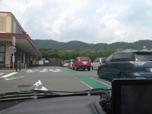 駐車の練習中