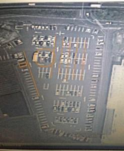 斜めの駐車場